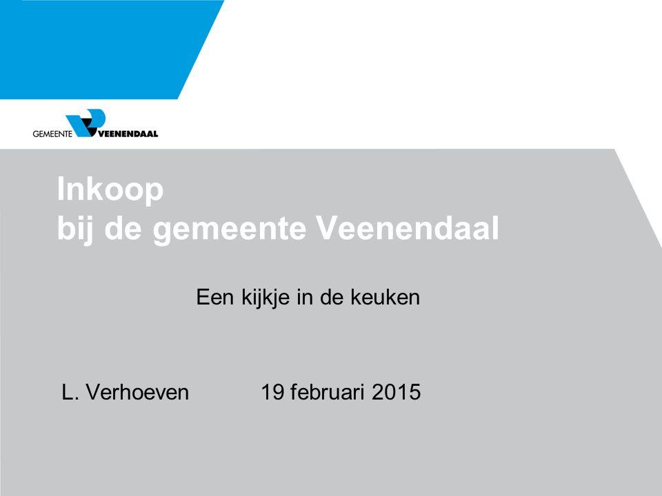 Inkoop bij de gemeente Veenendaal Een kijkje in de keuken L. Verhoeven19 februari 2015