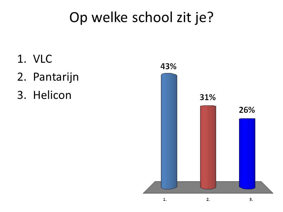 Op welke school zit je 1.VLC 2.Pantarijn 3.Helicon