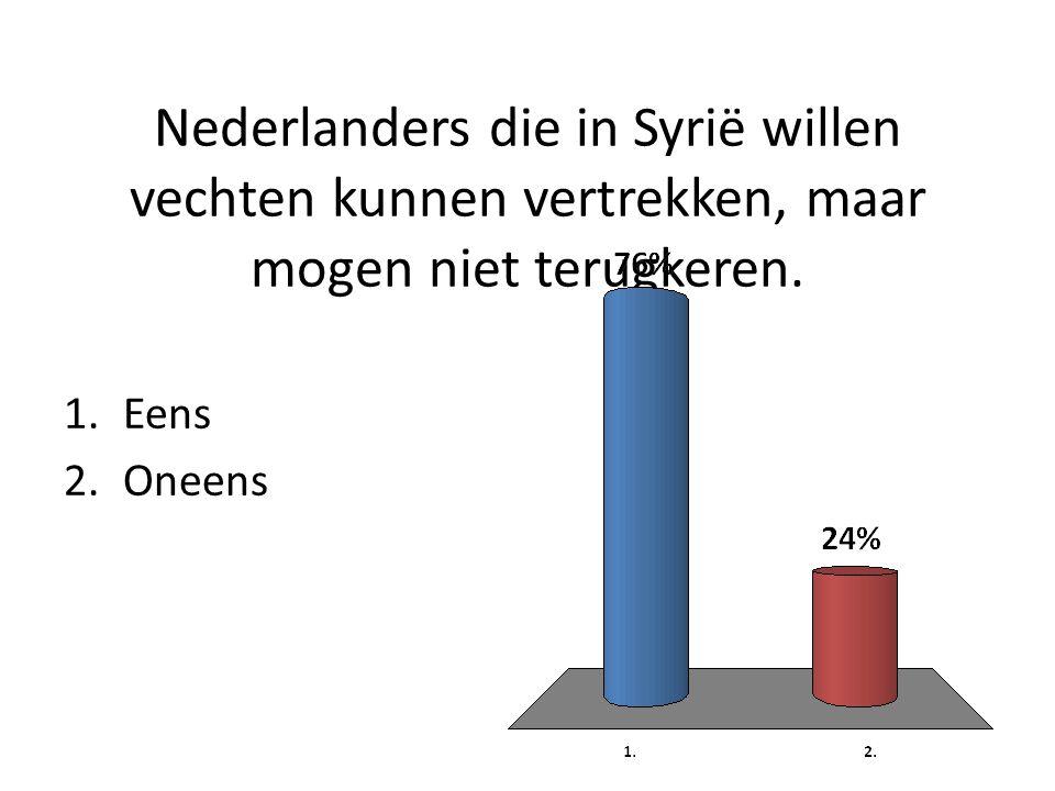 Nederlanders die in Syrië willen vechten kunnen vertrekken, maar mogen niet terugkeren.