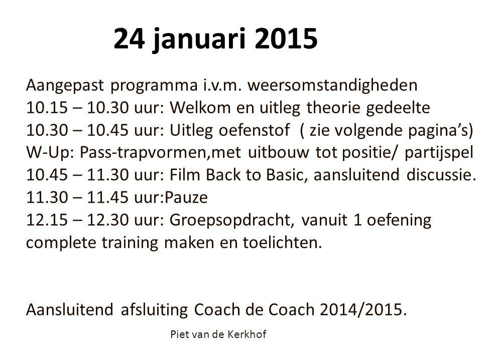 24 januari 2015 Aangepast programma i.v.m. weersomstandigheden 10.15 – 10.30 uur: Welkom en uitleg theorie gedeelte 10.30 – 10.45 uur: Uitleg oefensto