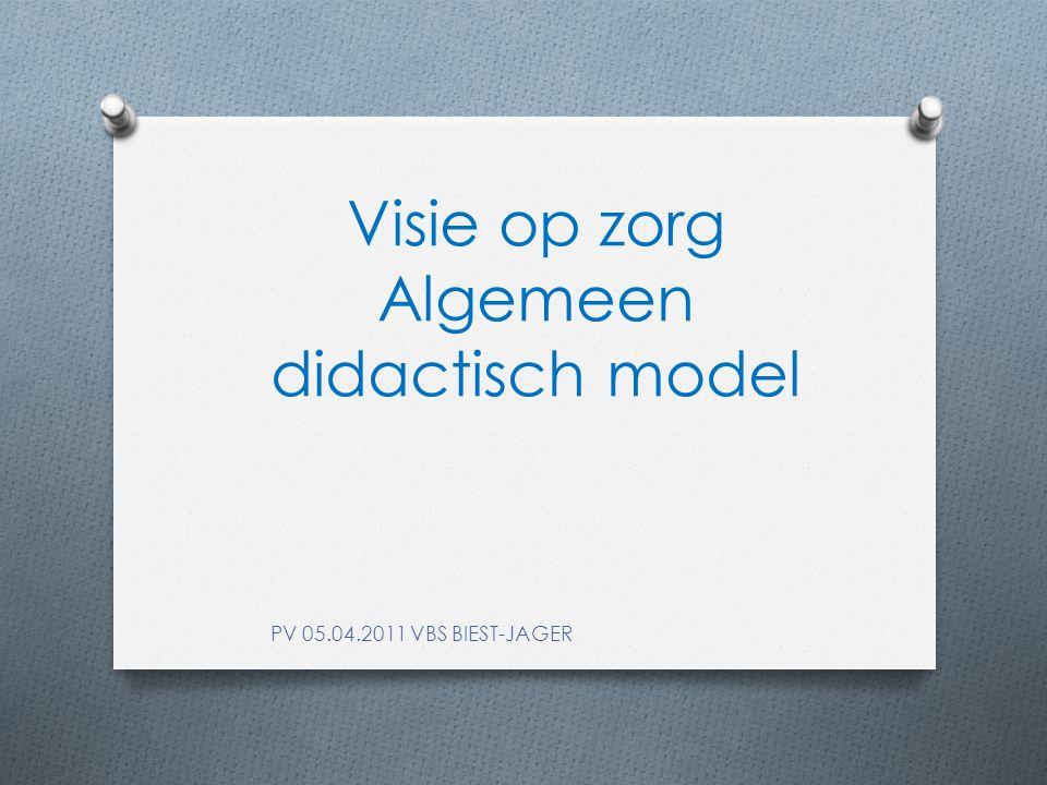 Visie op zorg Algemeen didactisch model PV 05.04.2011 VBS BIEST-JAGER