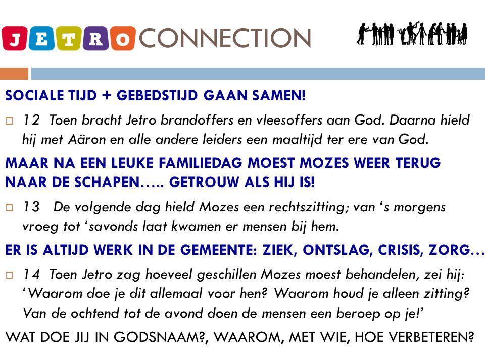 JETRO - CONNECTION SOCIALE TIJD + GEBEDSTIJD GAAN SAMEN.