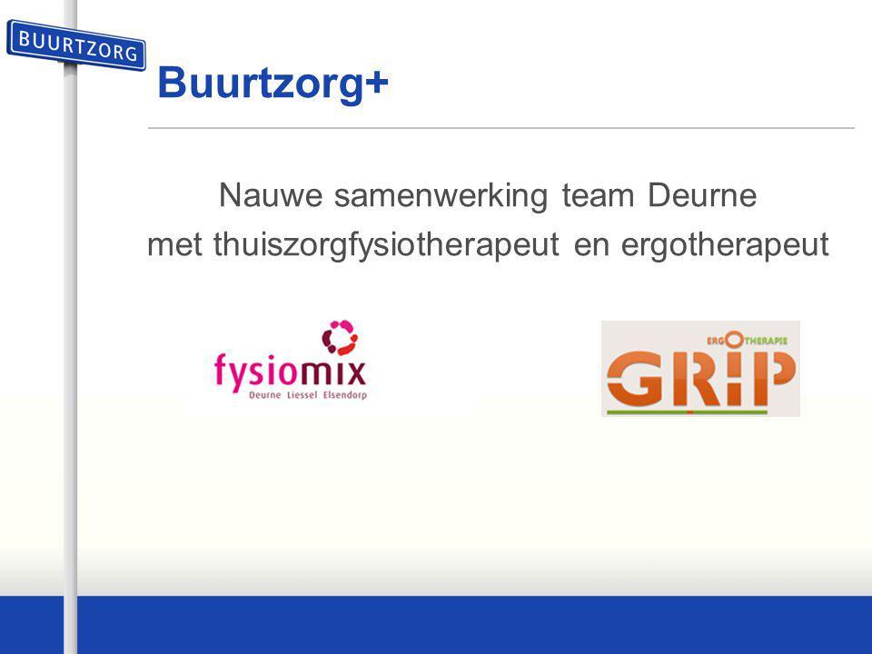 Buurtzorg+ Nauwe samenwerking team Deurne met thuiszorgfysiotherapeut en ergotherapeut