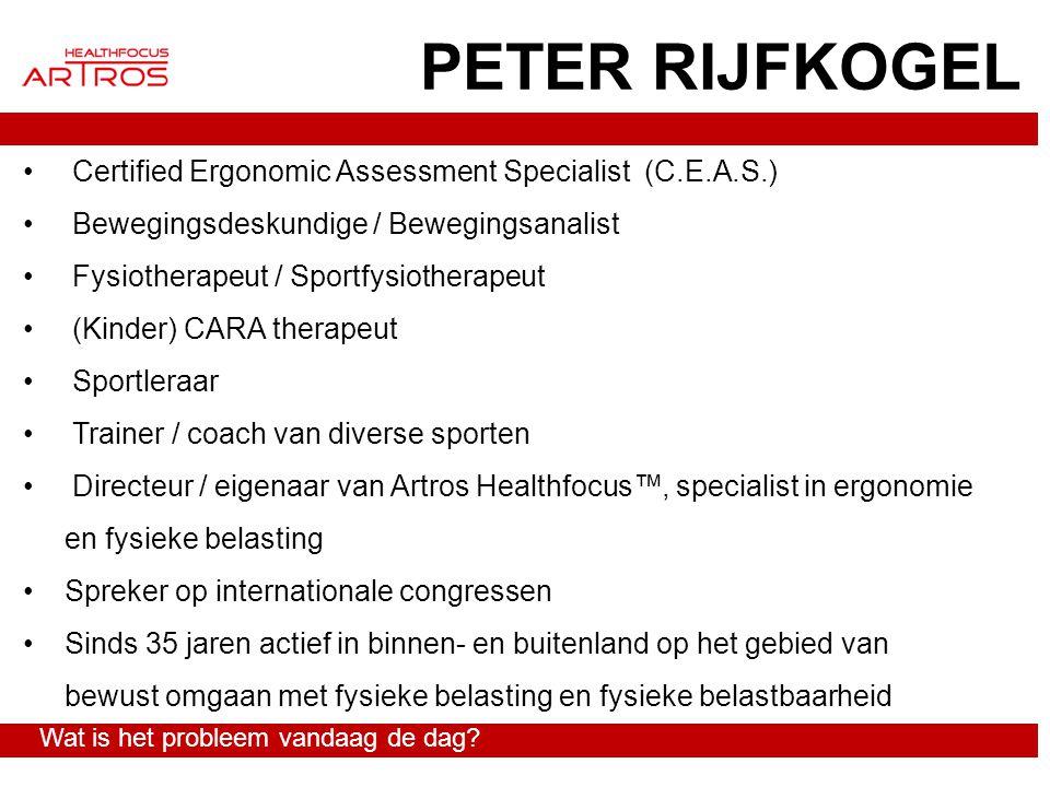 PETER RIJFKOGEL Certified Ergonomic Assessment Specialist (C.E.A.S.) Bewegingsdeskundige / Bewegingsanalist Fysiotherapeut / Sportfysiotherapeut (Kind