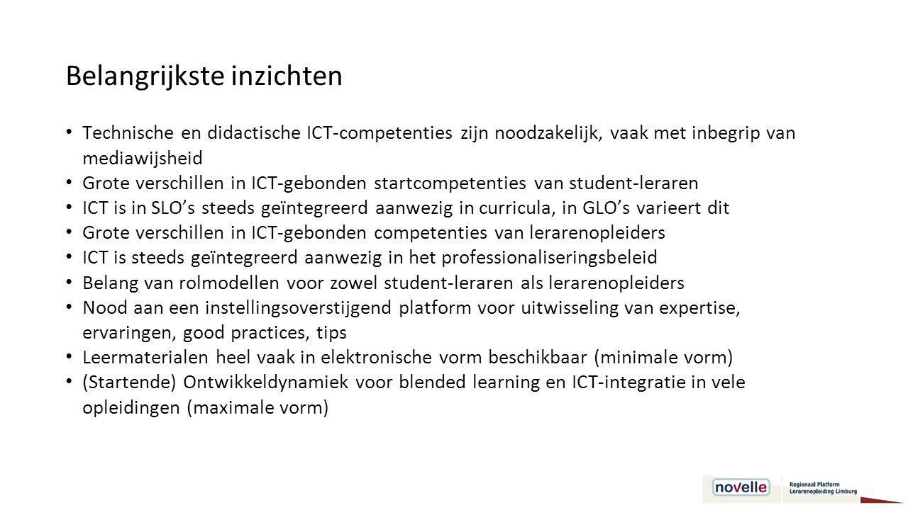 Doelstelling 4 Bestaande praktijken/methoden/instrumenten combineren of bijkomende methoden ontwikkelen om het ICT-competentieniveau van lerarenopleiders en aspirant-leraren tot op het beoogde niveau te brengen (ds3).