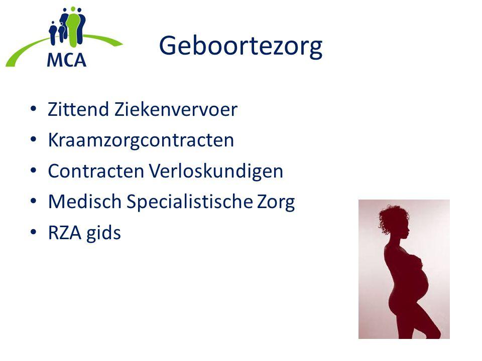 Geboortezorg Zittend Ziekenvervoer Kraamzorgcontracten Contracten Verloskundigen Medisch Specialistische Zorg RZA gids