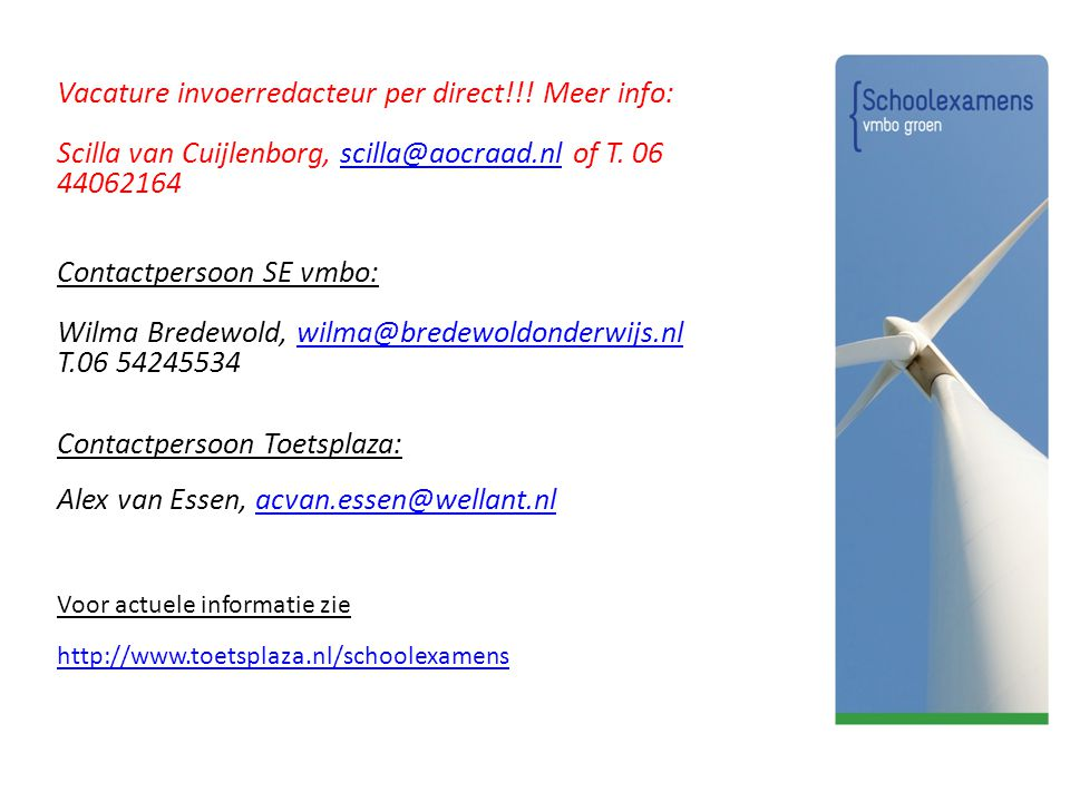 Vacature invoerredacteur per direct!!.Meer info: Scilla van Cuijlenborg, scilla@aocraad.nl of T.