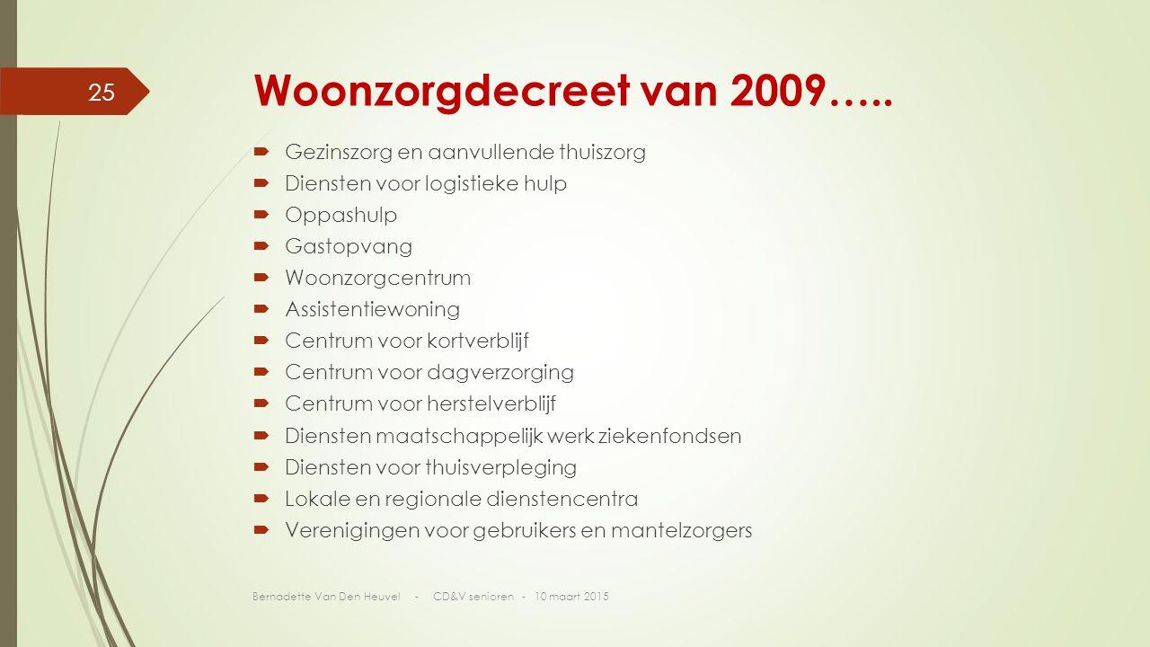 Woonzorgdecreet van 2009…..