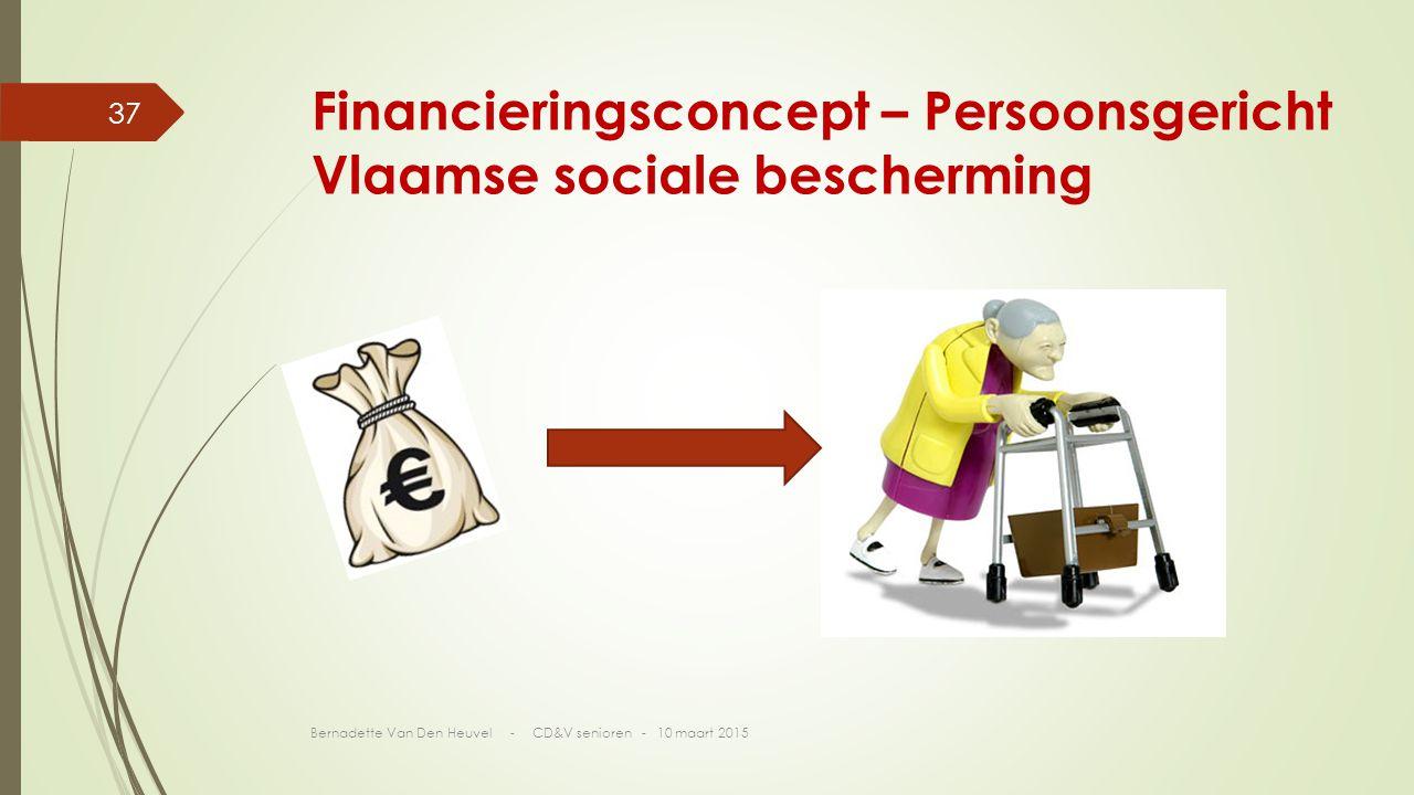 Financieringsconcept – Persoonsgericht Vlaamse sociale bescherming Bernadette Van Den Heuvel - CD&V senioren - 10 maart 2015 37