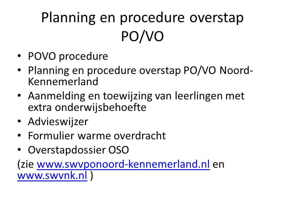 Evaluatie Mei/juni 2015 evaluatie via PO-VO overleg