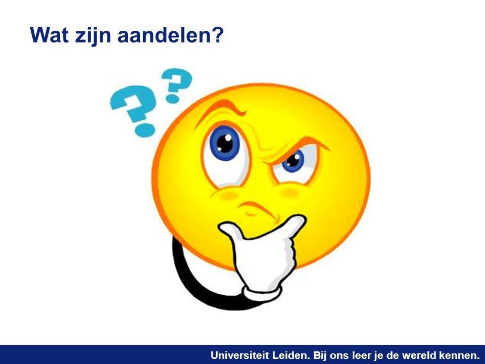 Universiteit Leiden. Bij ons leer je de wereld kennen. Wat zijn aandelen?