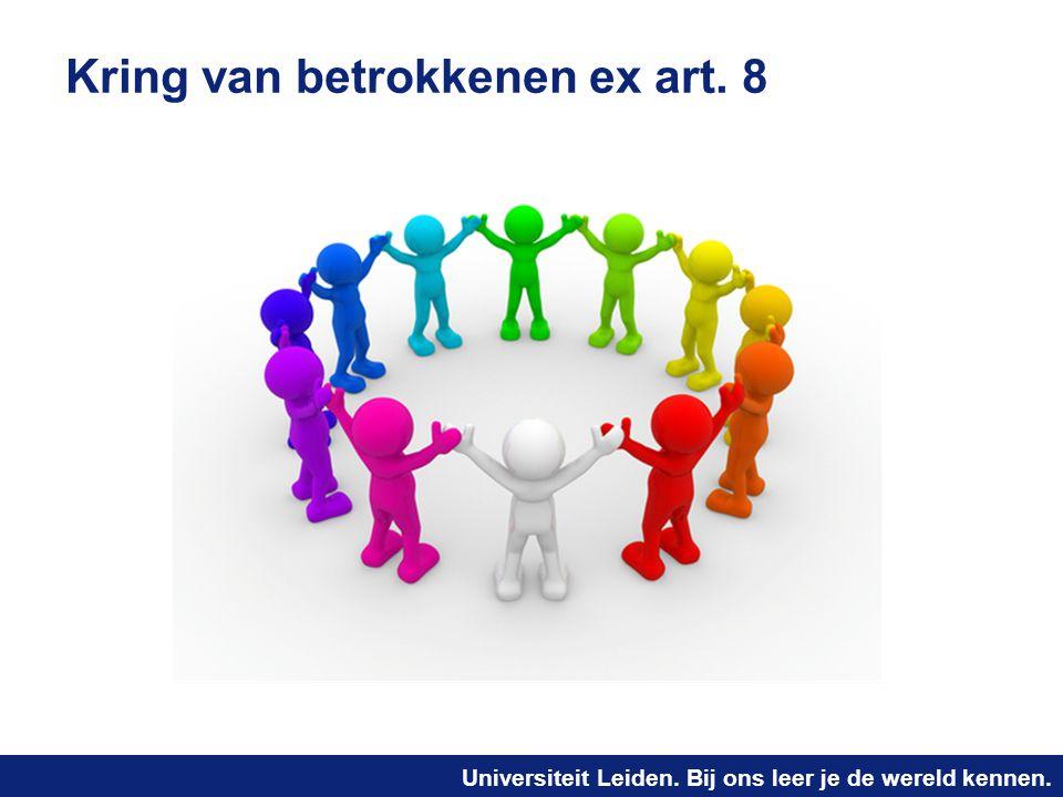 Universiteit Leiden. Bij ons leer je de wereld kennen. Kring van betrokkenen ex art. 8