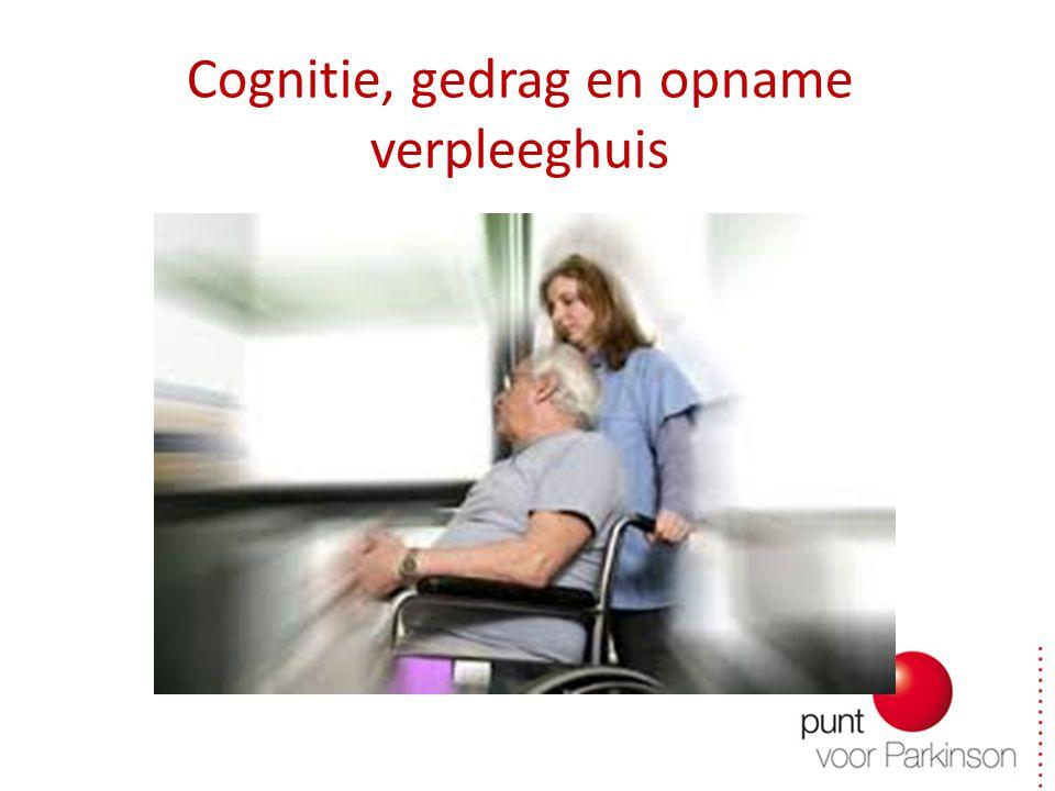Cognitie, gedrag en opname verpleeghuis