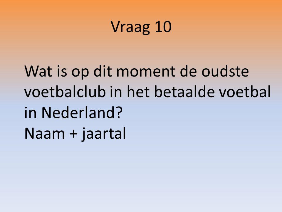 Wat is op dit moment de oudste voetbalclub in het betaalde voetbal in Nederland.