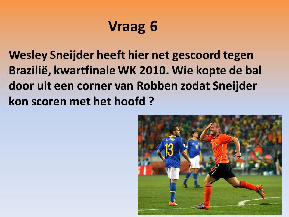 Wesley Sneijder heeft hier net gescoord tegen Brazilië, kwartfinale WK 2010.