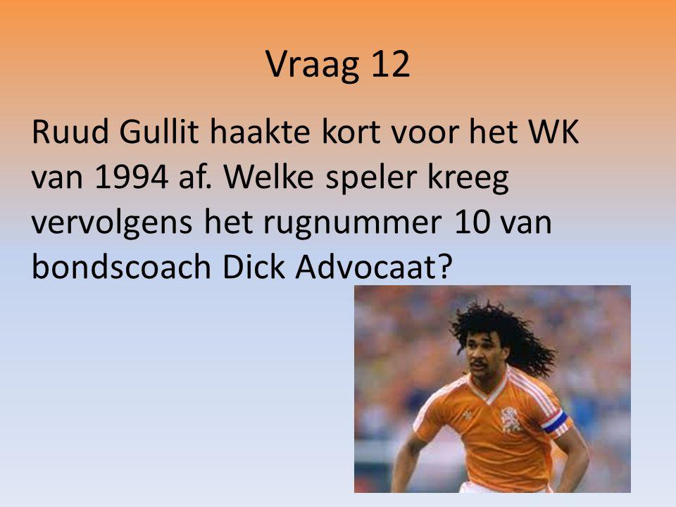 Ruud Gullit haakte kort voor het WK van 1994 af.