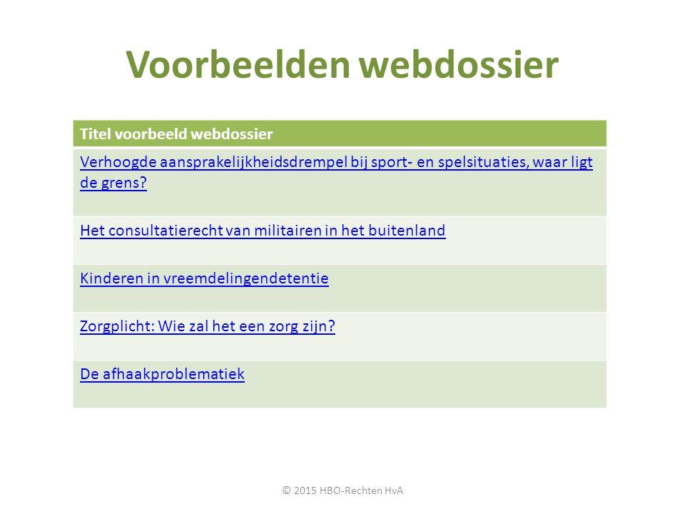 Voorbeelden webdossier Titel voorbeeld webdossier Verhoogde aansprakelijkheidsdrempel bij sport- en spelsituaties, waar ligt de grens? Het consultatie
