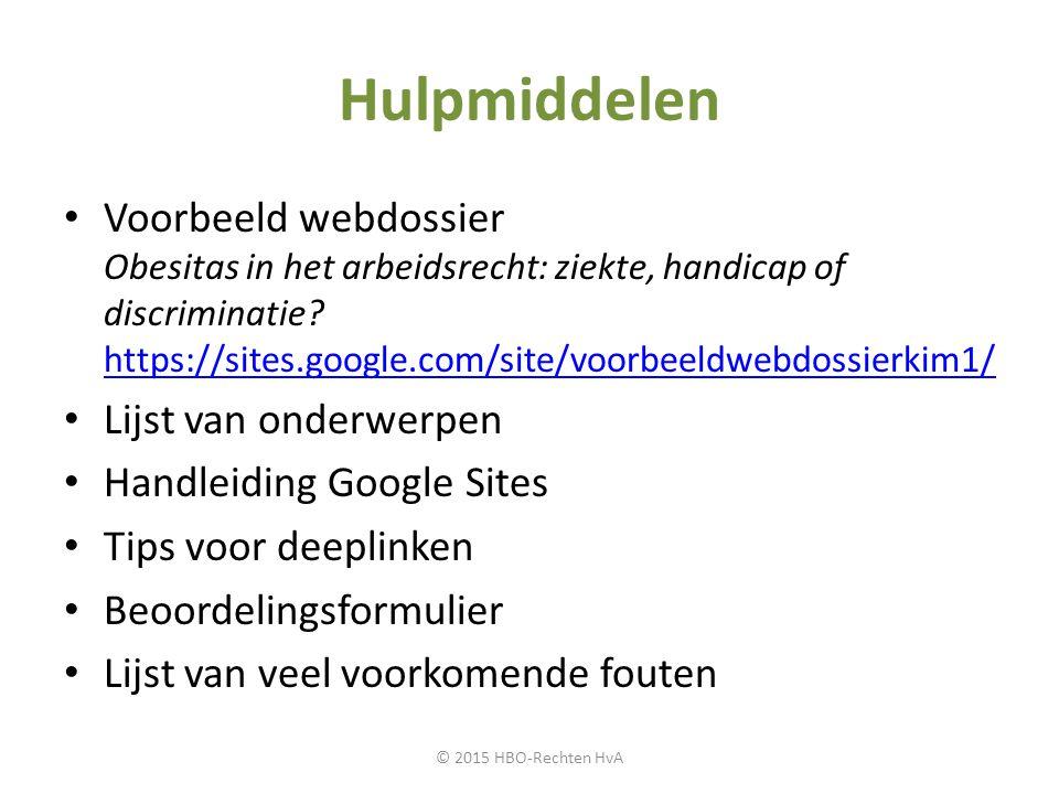 Hulpmiddelen Voorbeeld webdossier Obesitas in het arbeidsrecht: ziekte, handicap of discriminatie? https://sites.google.com/site/voorbeeldwebdossierki