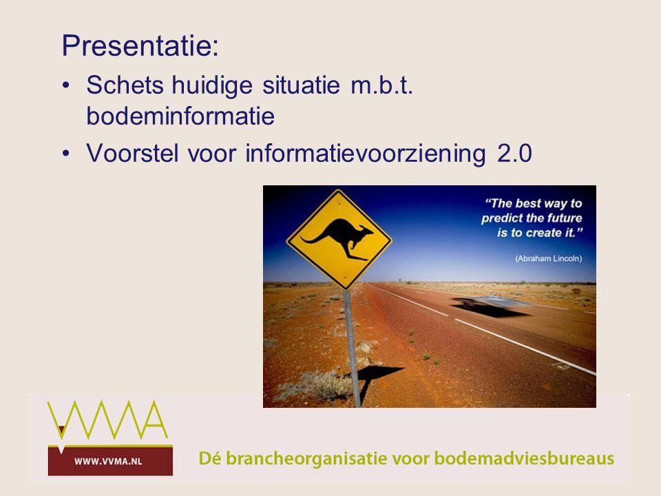 Presentatie: Schets huidige situatie m.b.t. bodeminformatie Voorstel voor informatievoorziening 2.0