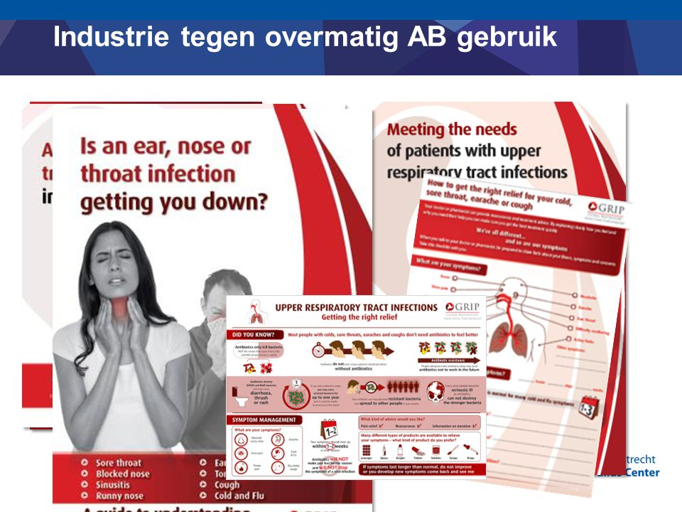 Industrie tegen overmatig AB gebruik