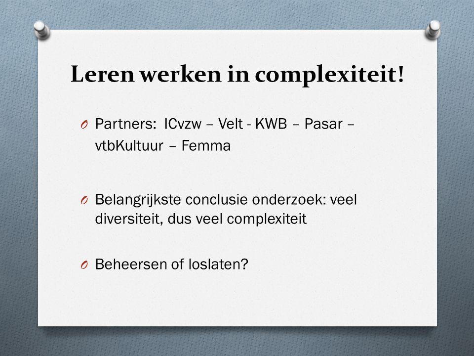 Leren werken in complexiteit.