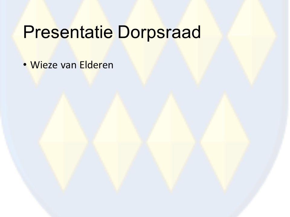 Presentatie Dorpsraad Wieze van Elderen