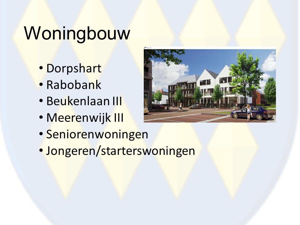 Woningbouw Dorpshart Rabobank Beukenlaan III Meerenwijk III Seniorenwoningen Jongeren/starterswoningen