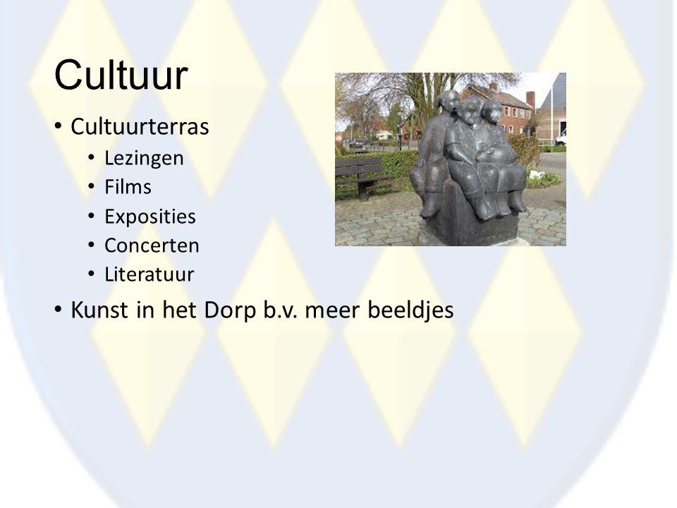 Cultuur Cultuurterras Lezingen Films Exposities Concerten Literatuur Kunst in het Dorp b.v. meer beeldjes