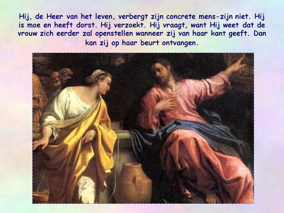 Maar Jezus legt de vrouw niets op en verwijt haar niets.