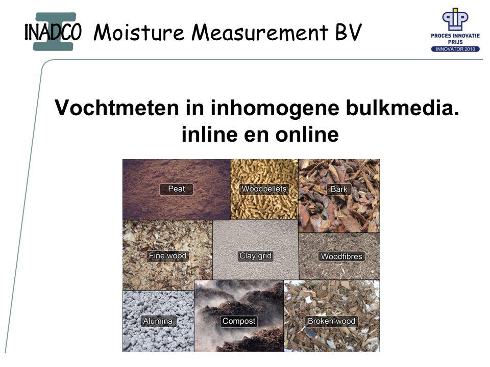 Moisture Measurement BV 2 Wie is INADCO Ontwikkelaar en producent van meetapparatuur voor het meten van de fysische eigenschappen van bulkmedia.