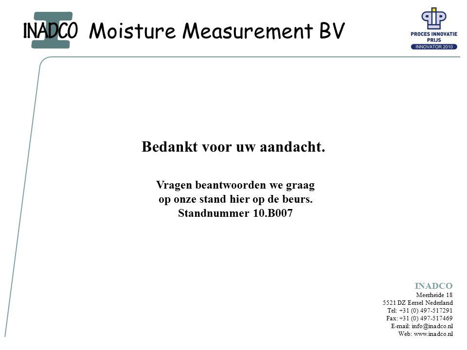 Moisture Measurement BV Bedankt voor uw aandacht.
