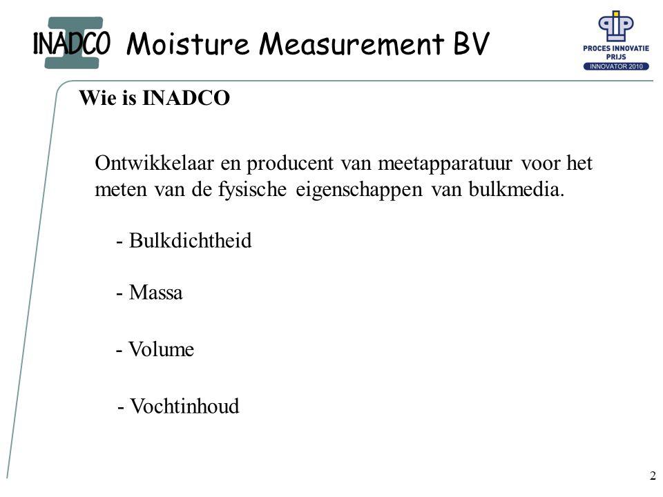 Moisture Measurement BV 3 Meten in het proces Vocht = ???.