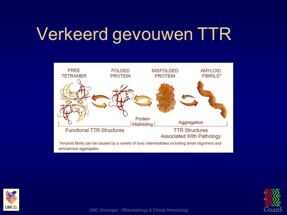 Guard UMC Groningen – Rheumatology and Clinical Immunology UMCG TTR tetrameer stabilisatie