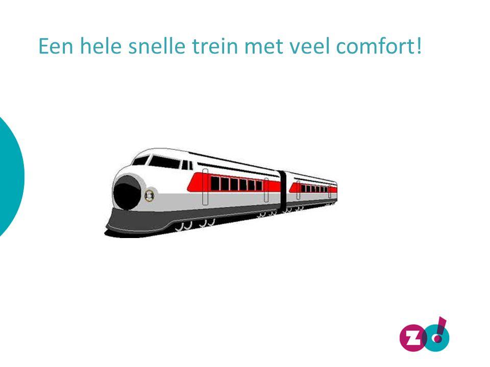 Een hele snelle trein met veel comfort!