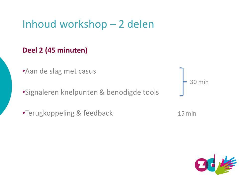 Workshop deel 1