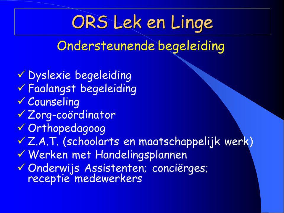 Ondersteunende begeleiding Dyslexie begeleiding Faalangst begeleiding Counseling Zorg-coördinator Orthopedagoog Z.A.T.