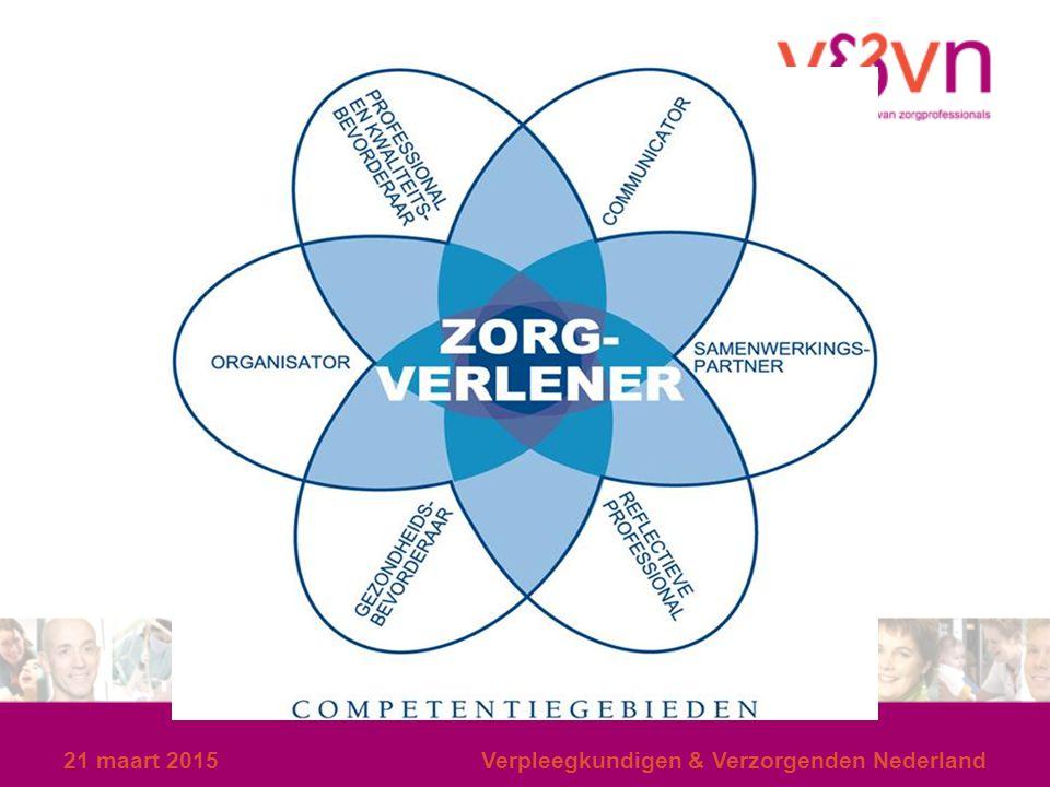 21 maart 2015Verpleegkundigen & Verzorgenden Nederland