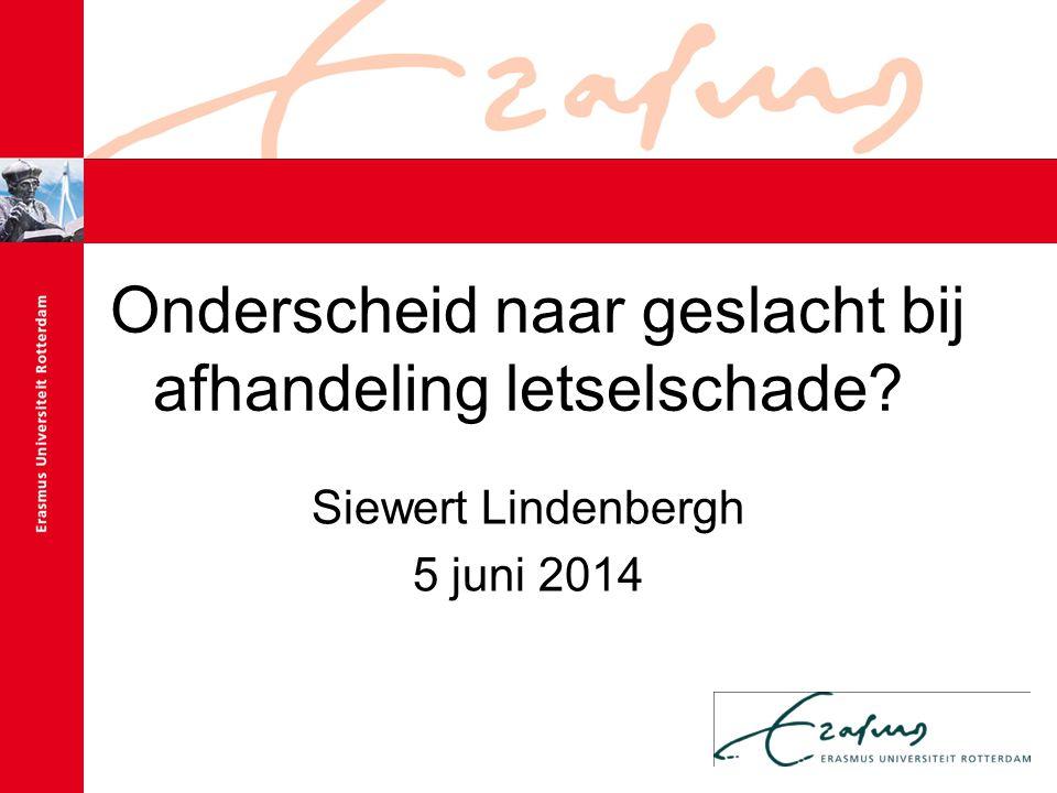 Onderscheid naar geslacht bij afhandeling letselschade Siewert Lindenbergh 5 juni 2014