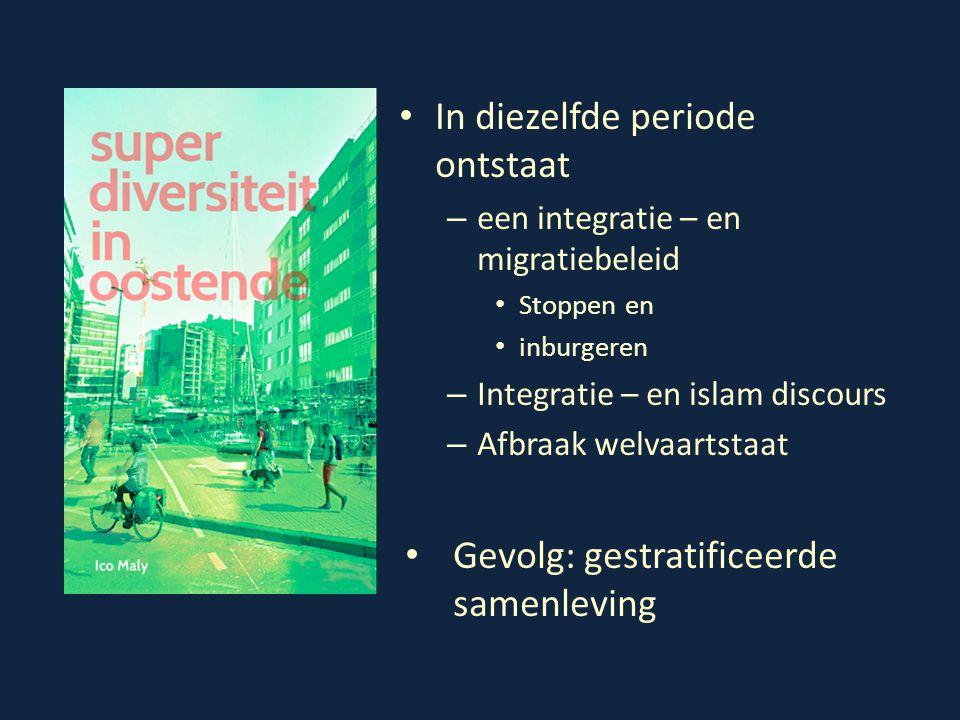 In diezelfde periode ontstaat – een integratie – en migratiebeleid Stoppen en inburgeren – Integratie – en islam discours – Afbraak welvaartstaat Gevo