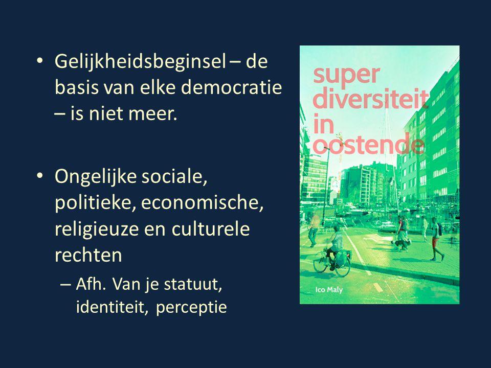 Gelijkheidsbeginsel – de basis van elke democratie – is niet meer. Ongelijke sociale, politieke, economische, religieuze en culturele rechten – Afh. V