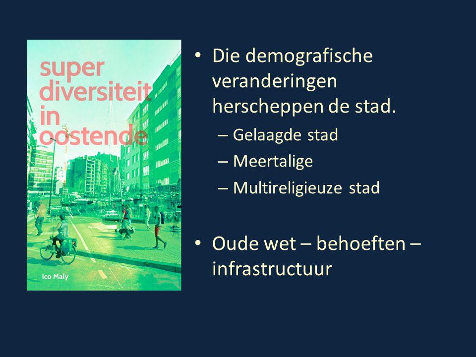 Die demografische veranderingen herscheppen de stad. – Gelaagde stad – Meertalige – Multireligieuze stad Oude wet – behoeften – infrastructuur