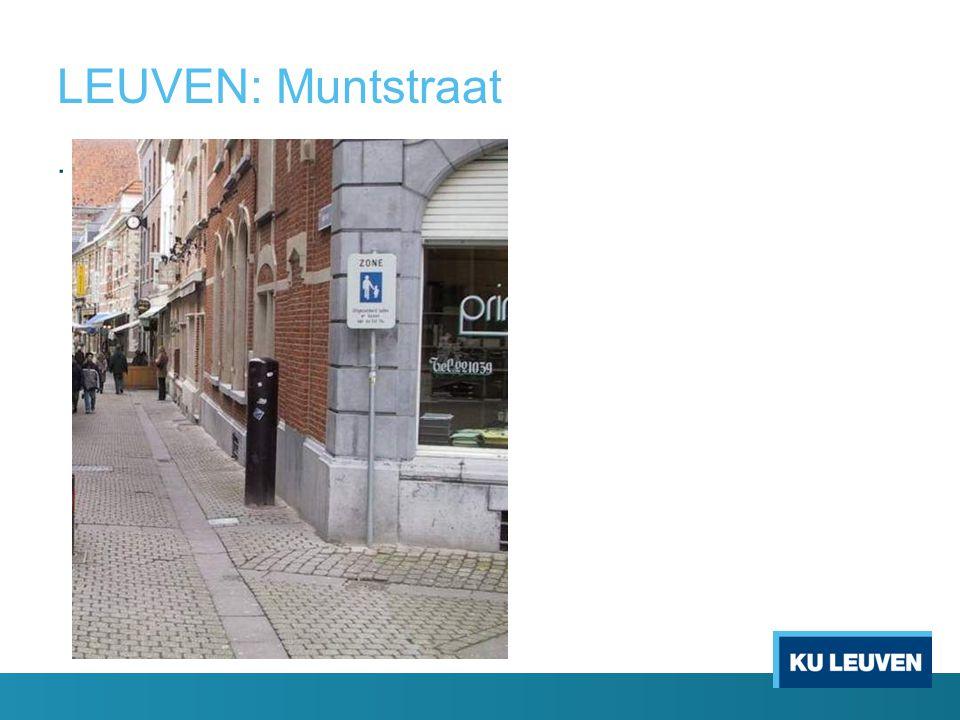 LEUVEN: Muntstraat.
