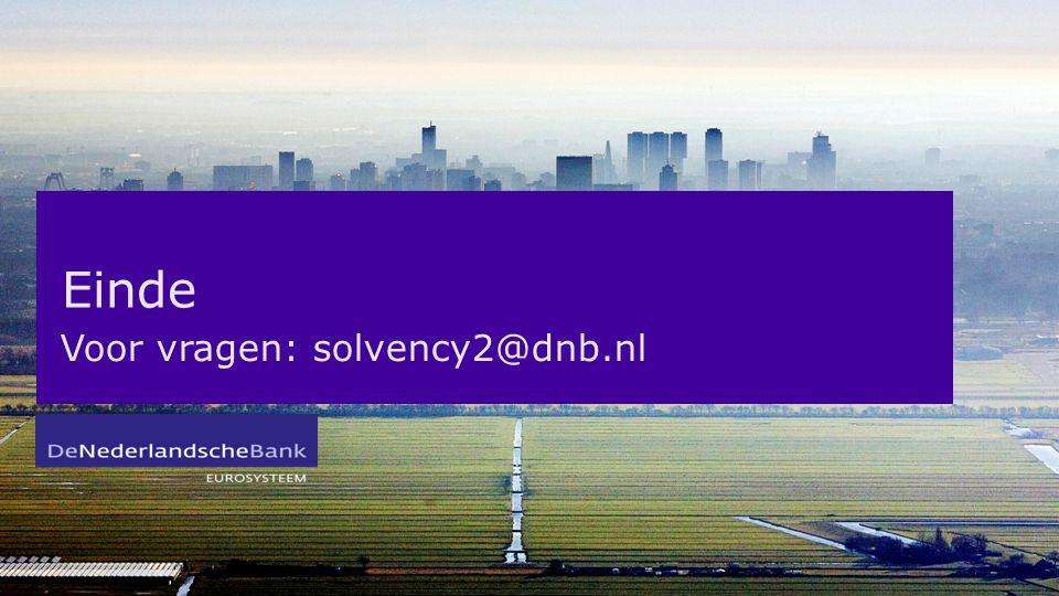 Einde Voor vragen: solvency2@dnb.nl
