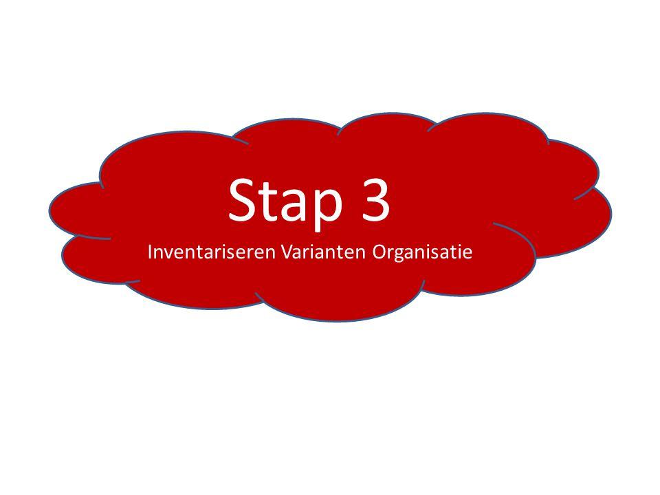 Stap 3 Inventariseren Varianten Organisatie