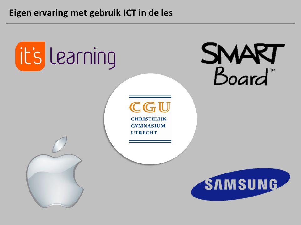 Eigen ervaring met gebruik ICT in de les