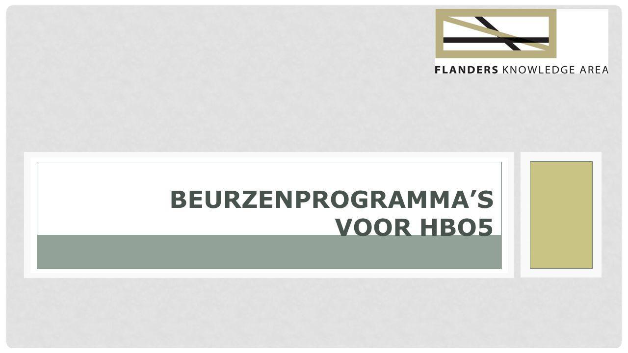 www.flandersknowledgearea.be BEURZENPROGRAMMA'S Generieke beurzen Specifieke beurzen: - Transition Fellowship Programme - ASEM-DUO