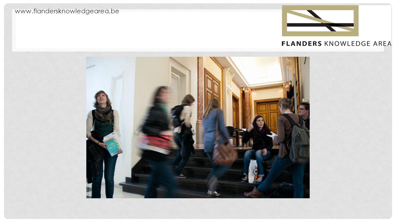 www.flandersknowledgearea.be STUDY IN FLANDERS