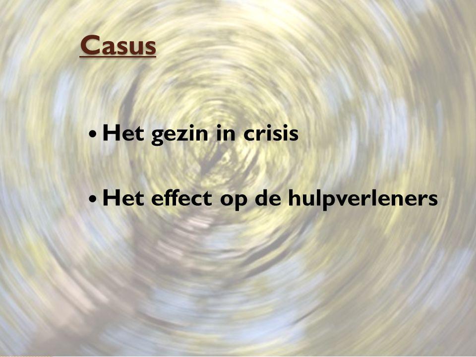 Casus Het gezin in crisis Het effect op de hulpverleners