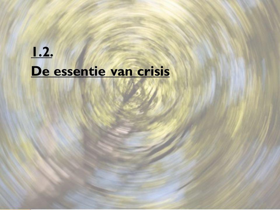 1.2.1. Hoe ontstaat crisis? Door een belangrijke verschuiving in een bepaald evenwicht