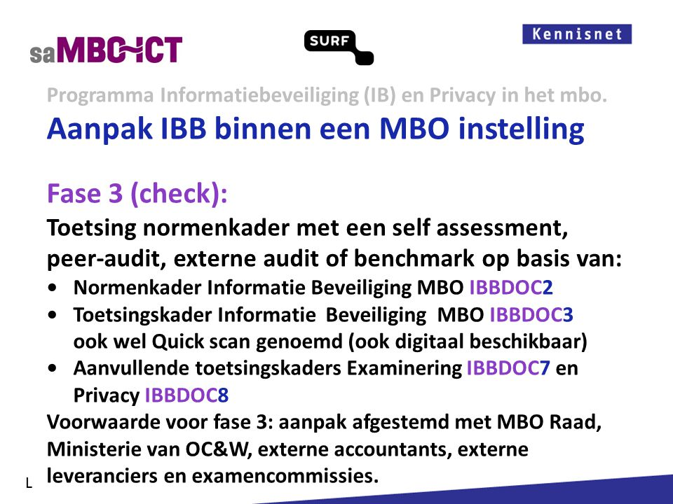Informatiemanagement Programma Informatiebeveiliging (IB) en Privacy in het mbo.